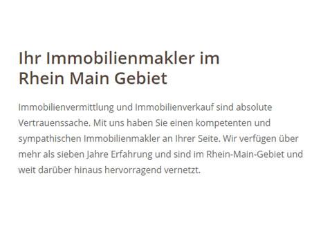 Immobilienvermittlung für  Dieburg, Groß Umstadt, Reinheim, Roßdorf, Groß Zimmern, Münster, Eppertshausen und Messel, Otzberg, Rödermark